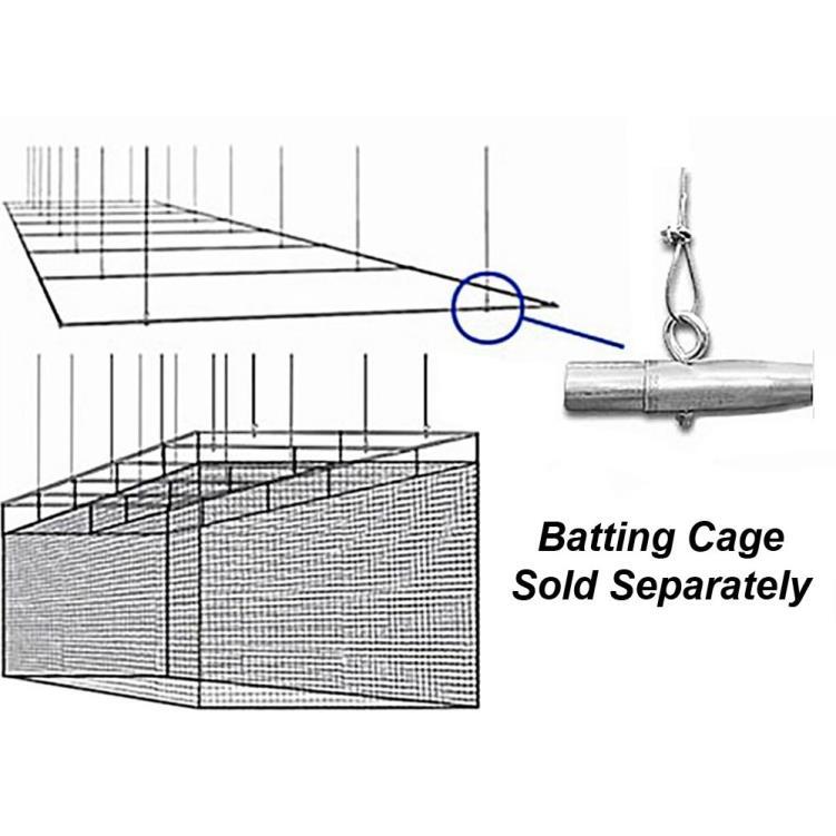 """Cimarron 1 ½"""" Suspended Batting Cage Frames"""