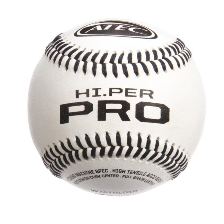 Hi.Per Pro Leather Flat Seam Baseballs - 1 Dz