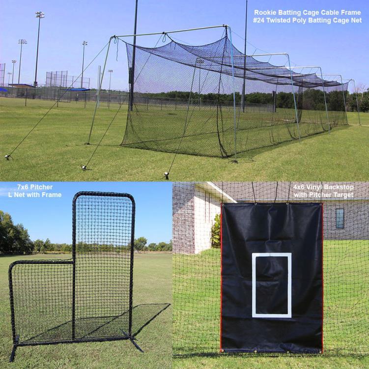 SkillBuilder : Best Prices On Cimarron 70u0027u0027 Rookie Backyard Batting Cage  Bundle