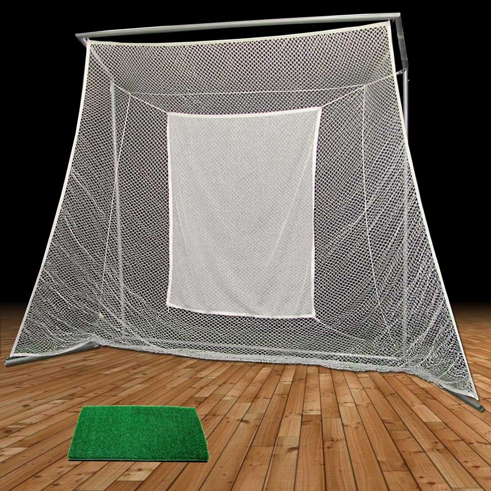 Packaging or Promotional image for Cimarron Swing Master Golf Net with 1x2 Golf Mat
