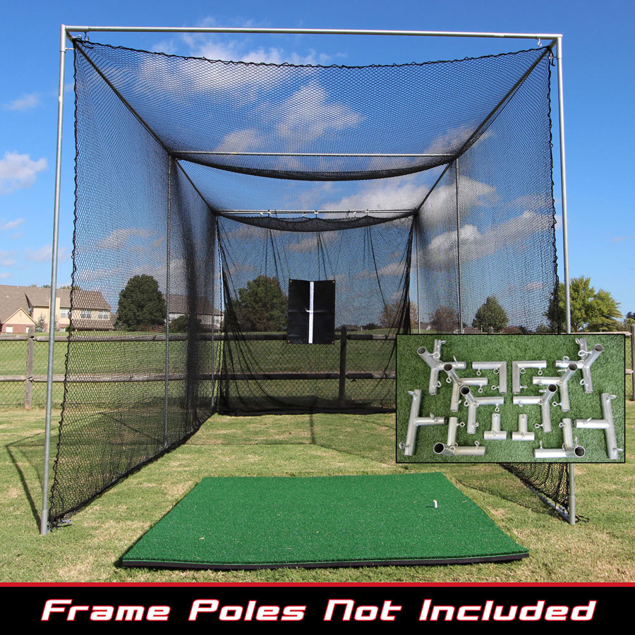Packaging or Promotional image for 20x10x10 Masters Golf Net w/Premier Golf Mat