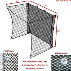 Thumbnail Image 2 for Cimarron 10' x 14' x 12' Golf Net Insert with Archery Back