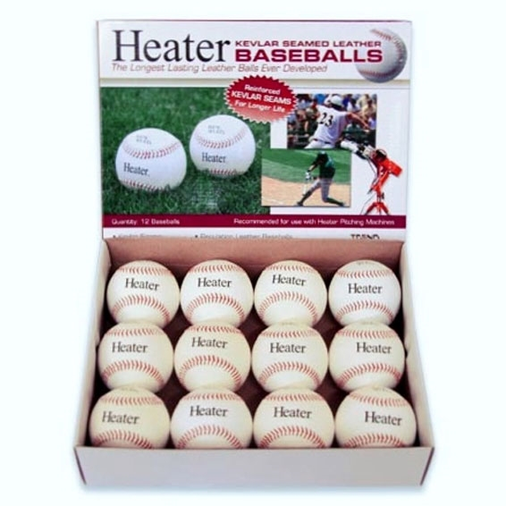 Heater Leather Baseballs - White