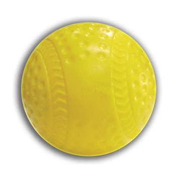 Cimarron Dimpled Yellow Seamed Baseballs - Dozen