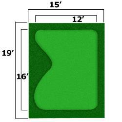 Thumbnail Image 2 for 15'' x 19'' Complete Par Saver Putting Green w/ Best Cut Fringe