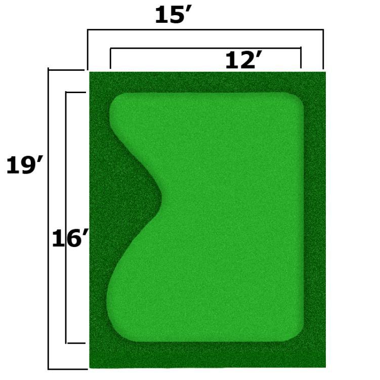 15' x 19' Complete Par Saver Putting Green w/ Symbior Fringe
