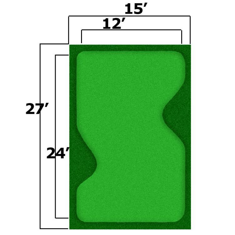 15' x 27' Complete Par Saver Putting Green w/ Symbior Fringe