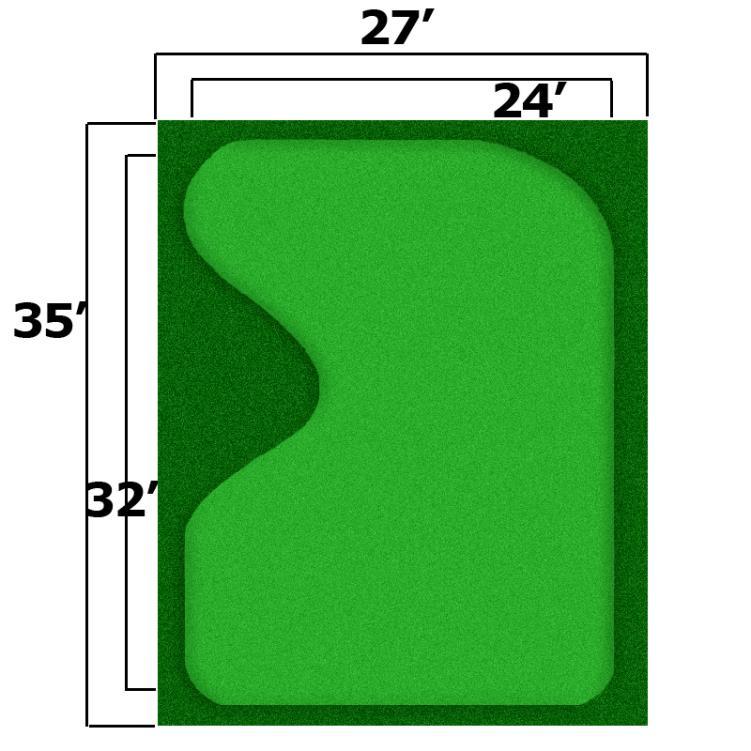 27' x 35' Complete Par Saver Putting Green w/ Symbior Fringe