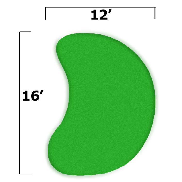 15' x 19' Complete Par Saver Putting Green Kit w/o Fringe (Kidney)