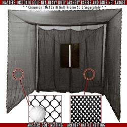 Thumbnail Image 2 for Cimarron 10' x 10' x 10' Masters Golf Net Only