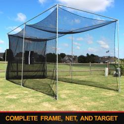 Thumbnail Image 2 for Cimarron 20'x10'x10' Masters Golf Net with Complete Frame