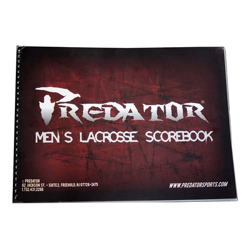 Predator Official Lacrosse Scorebook Mens