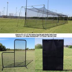 Thumbnail Image 2 for Cimarron 70' Rookie Backyard Batting Cage Bundle