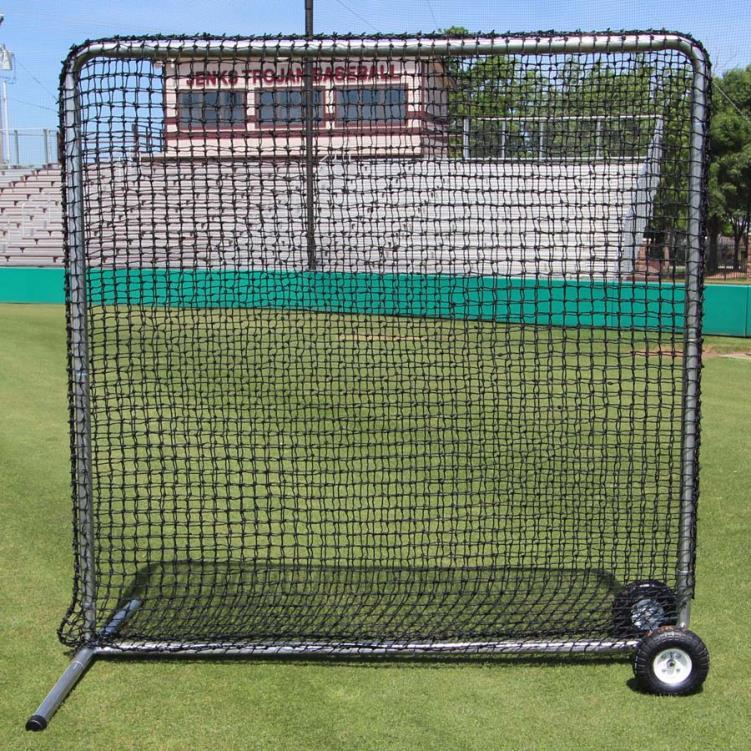 Cimarron 7' x 7' #84 Premier Fielder Net and Frame with Wheels