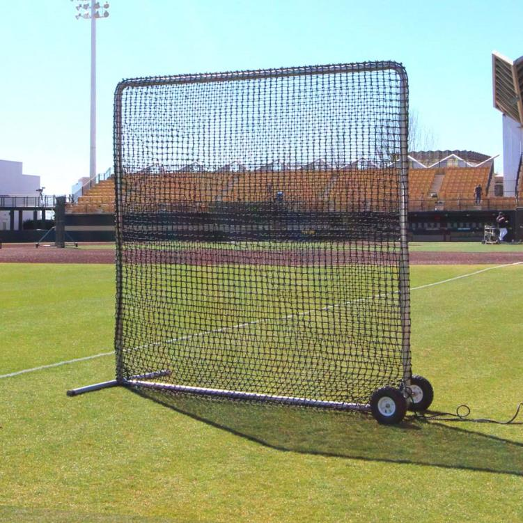Cimarron 8' x 8' #84 Premier Fielder Net and Frame with Wheels