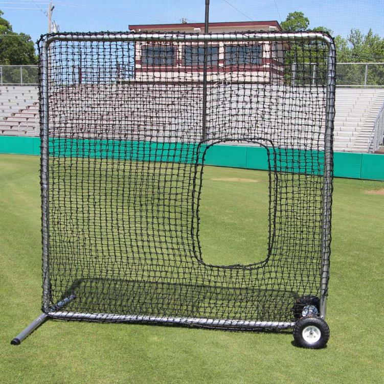 Cimarron 7' x 7' #84 Premier Softball Net and Frame with Wheels