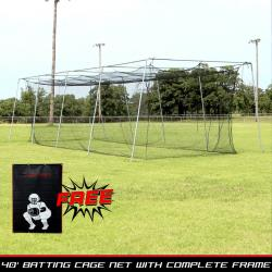 Thumbnail Image 2 for Cimarron #24 40x12x10 Net and Frame with Vinyl Backstop