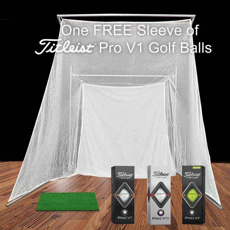 Cimarron Super Swing Master Golf Net with 1'x2' Hitting Mat and FREE ProV1 Golf Balls