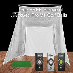 Thumbnail Image 2 for Cimarron Super Swing Master Golf Net with 1'x2' Hitting Mat and FREE ProV1 Golf Balls