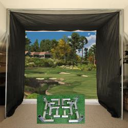 Thumbnail Image 3 for Cimarron 5x10x10 Tour Simulator Archery Golf Net, Frame Kit and FREE sleeve of ProV1 Golf Balls