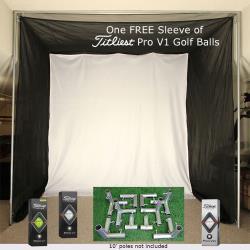 Thumbnail Image 4 for Cimarron 5x10x10 Tour Simulator Archery Golf Net, Frame Kit and FREE sleeve of ProV1 Golf Balls
