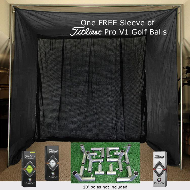 Cimarron 5x10x10 Clubhouse Archery Golf Net, Kit and FREE sleeve of ProV1 Golf Balls