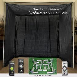 Thumbnail Image 2 for Cimarron 5x10x10 Clubhouse Archery Golf Net, Kit and FREE sleeve of ProV1 Golf Balls