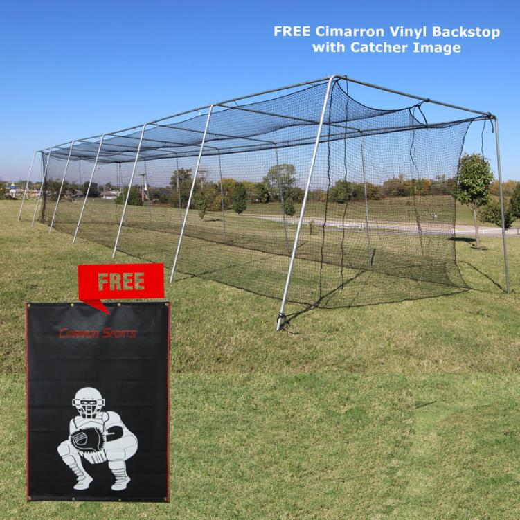 Cimarron #24 70x14x12 Twisted Poly Batting Cage Net with FREE Backstop