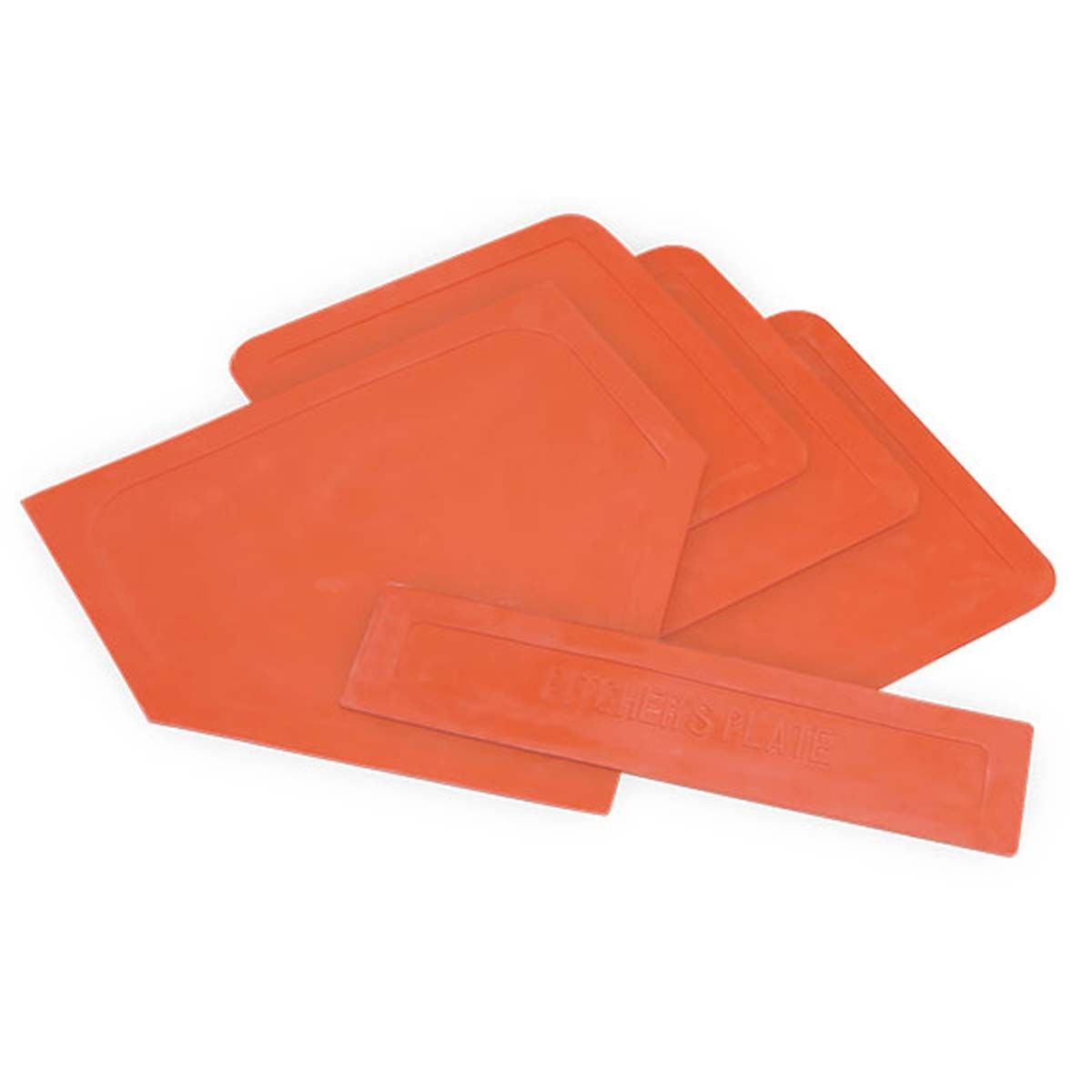 Packaging or Promotional image for Orange Home Plate, Pitchers Plate and Base Set