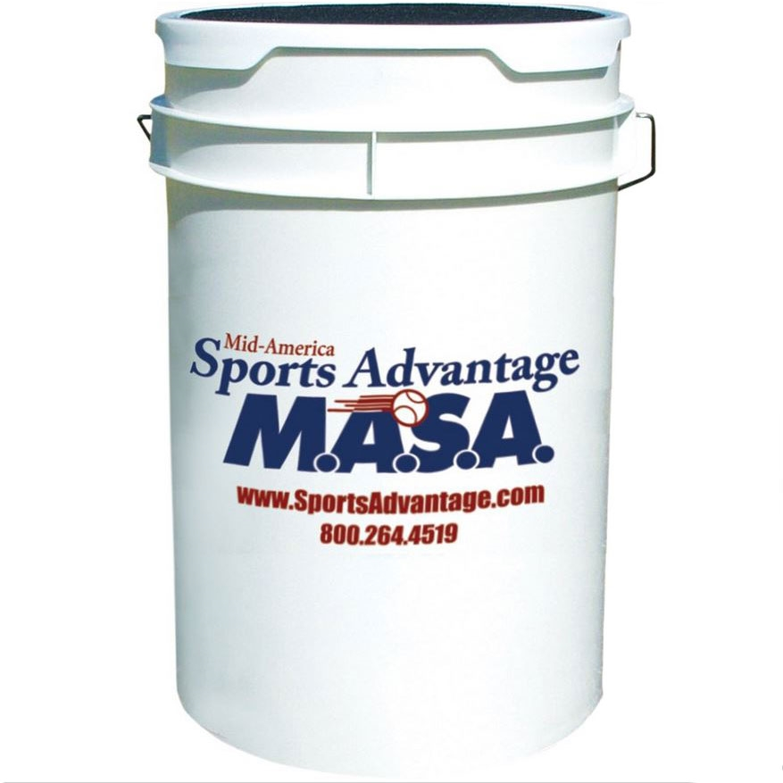 Packaging or Promotional image for OIP Ball Bucket with Padded Seat