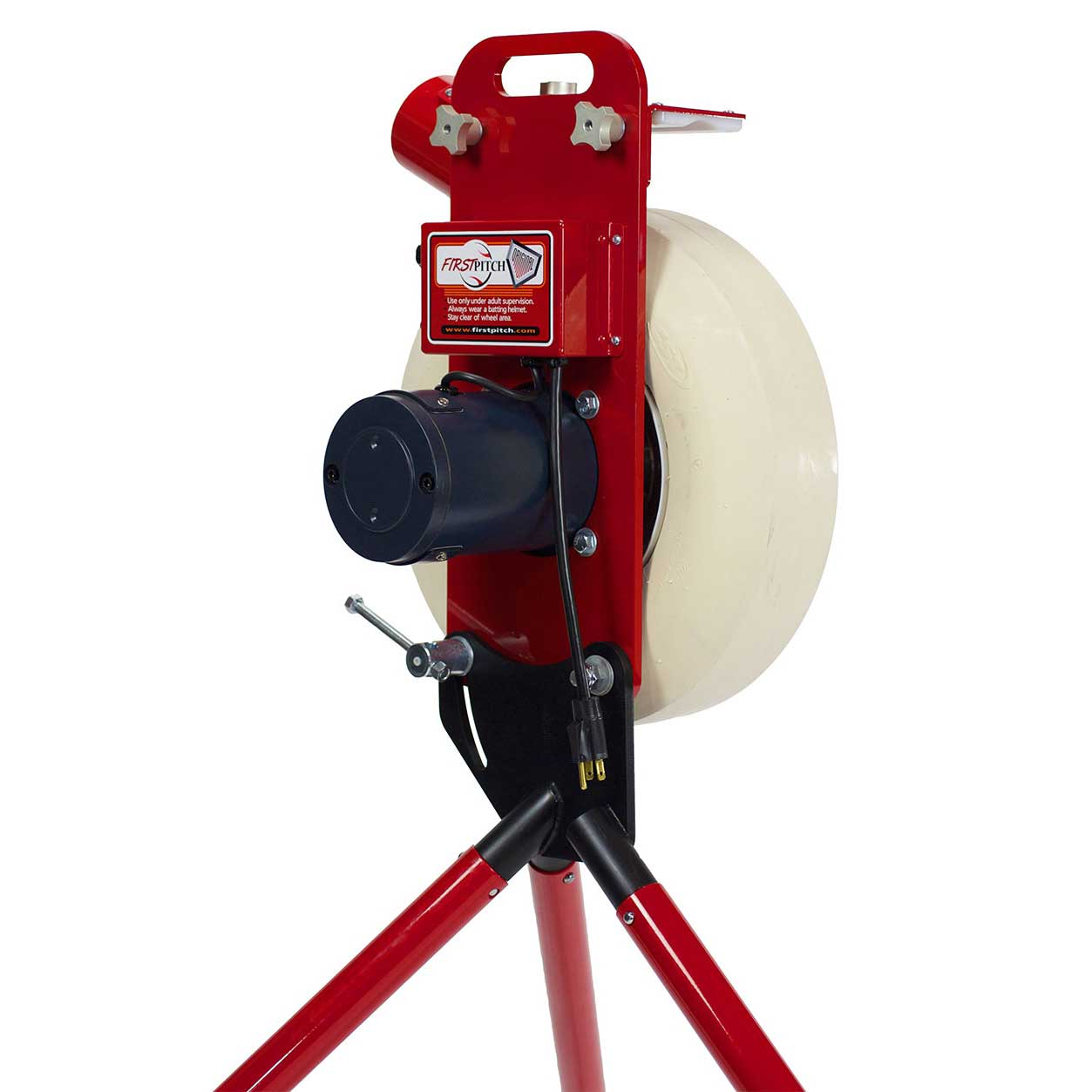 Packaging or Promotional image for First Pitch Original Softball Pitching Machine