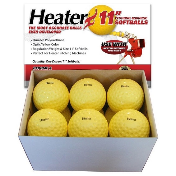 Packaging or Promotional image for Heater 11 Dimpled Softballs - Yellow