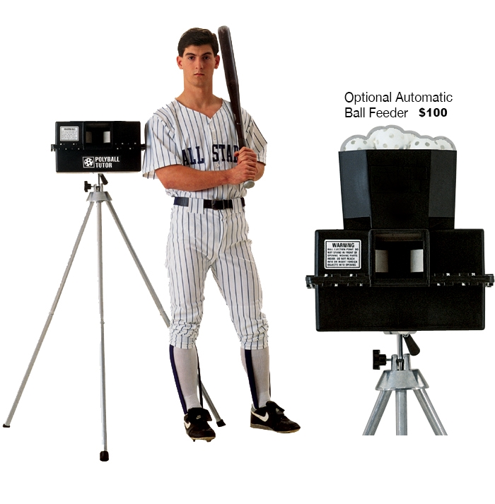 Packaging or Promotional image for Polyball Tutor Pitching Machine