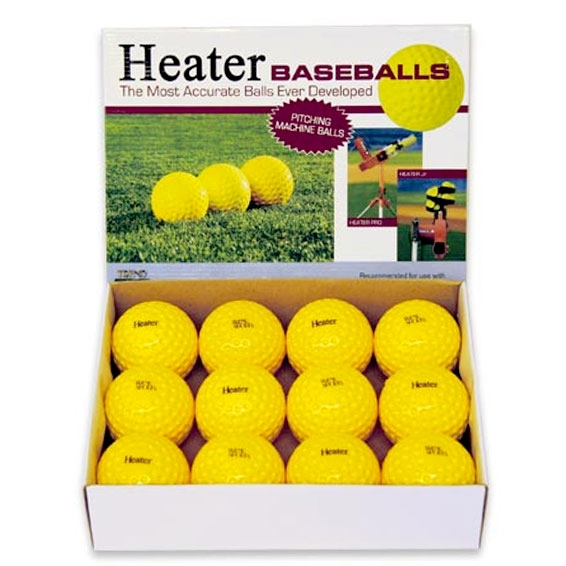 Packaging or Promotional image for Heater Dimpled Baseballs - Yellow