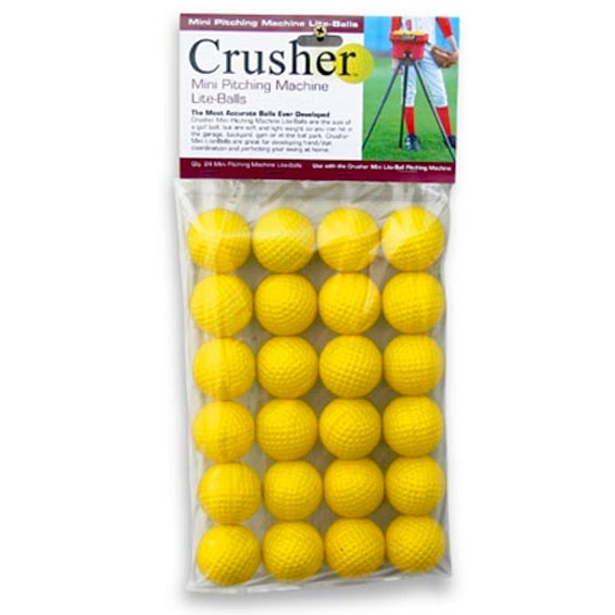Packaging or Promotional image for Soft Crusher Mini-Lite Balls - Yellow - 24 Ct.