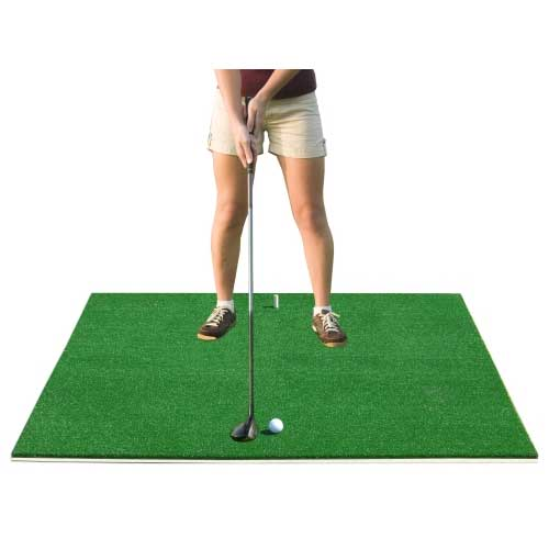 Packaging or Promotional image for Cimarron Residential Nylon Golf Mat w/ 1 Tee