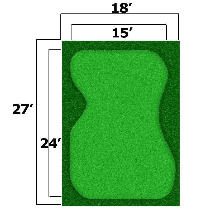 Packaging or Promotional image for 18'' x 27'' Complete Par Saver Putting Green w/ Symbior Fringe