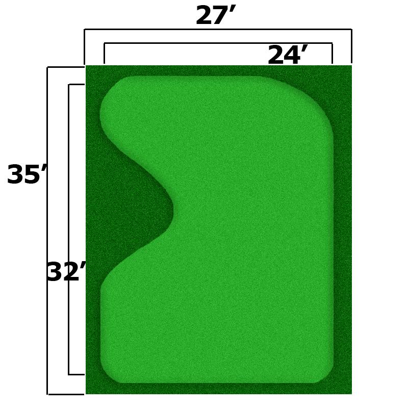 Packaging or Promotional image for 27'' x 35'' Complete Par Saver Putting Green w/ Symbior Fringe