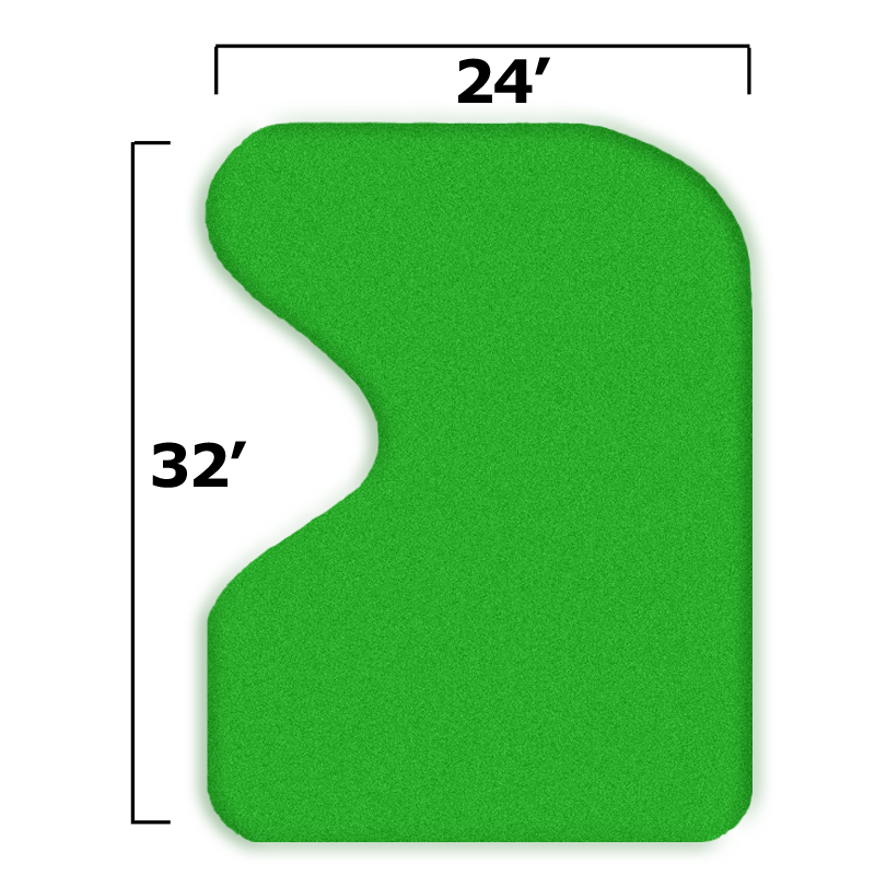 Packaging or Promotional image for 27'' x 35'' Complete Par Saver Putting Green w/o Fringe