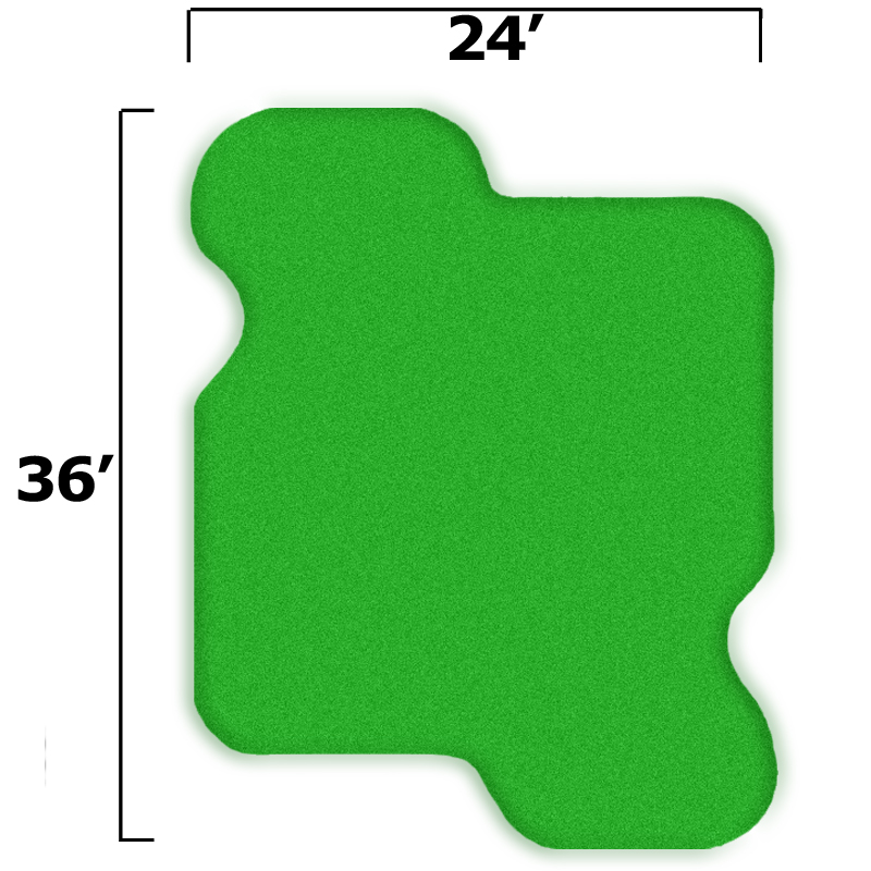 Packaging or Promotional image for 27'' x 39'' Complete Par Saver Putting Green w/o Fringe