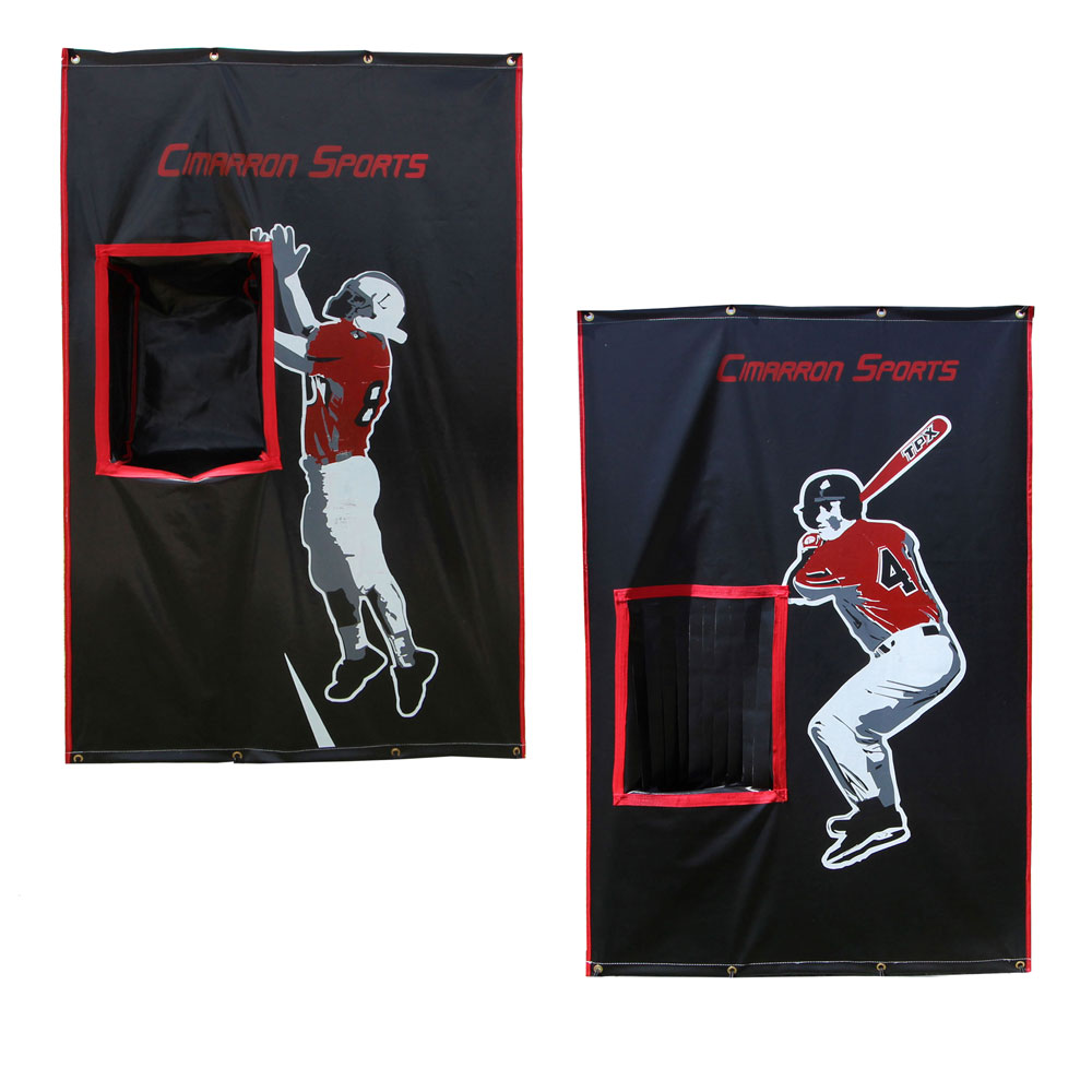 Packaging or Promotional image for Cimarron 2-Sport Catcher Vinyl Backstop