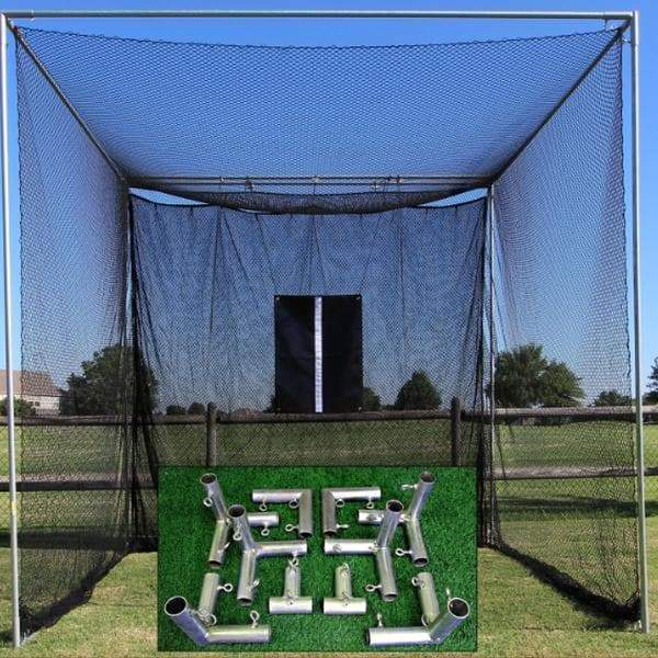 Packaging or Promotional image for Cimarron 10'x10'x10' Masters Golf Net with Frame Kit