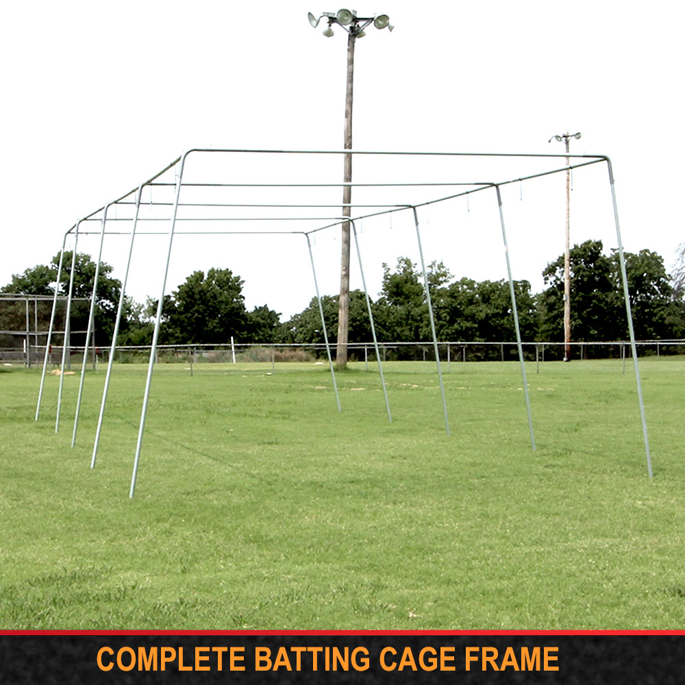 "Packaging or Promotional image for Cimarron 1 ½"" Complete Batting Cage Frames"