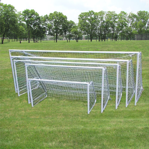 Packaging or Promotional image for 4 Round Aluminum Soccer Goals