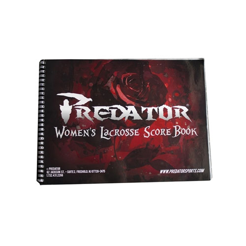 Packaging or Promotional image for Predator Official Lacrosse Scorebook Womens