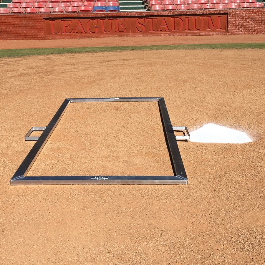 Packaging or Promotional image for Batter''s Box Heavy Duty Baseball Template 4'' x 6''
