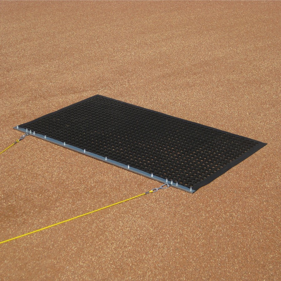 Packaging or Promotional image for Infield Eraser Mat Drag 5'' x 3'' with Tow Rope