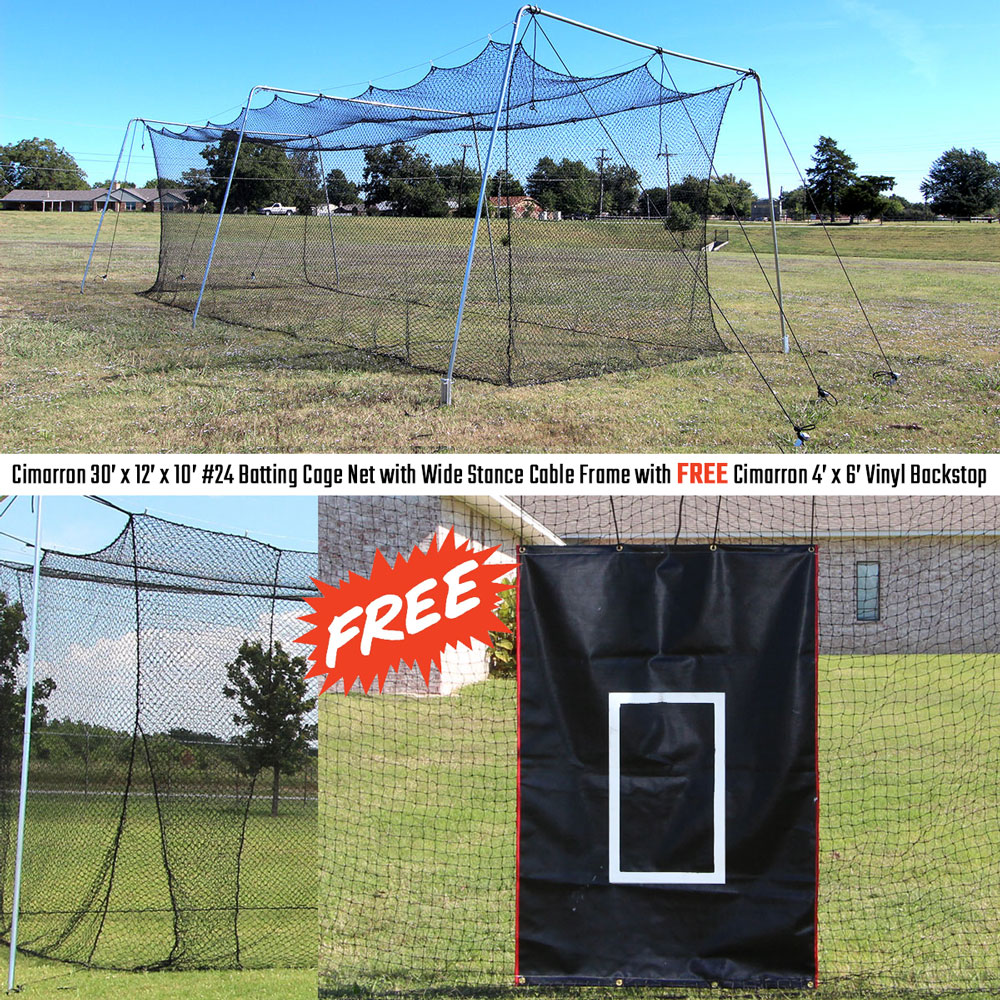 Best Prices On Cimarron 30 Rookie Backyard Batting Cage Bundle Cimarron Sports