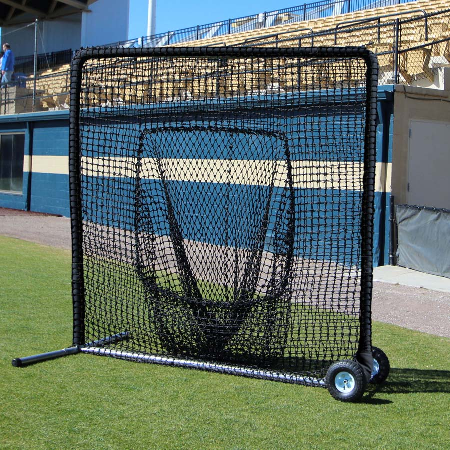 Packaging or Promotional image for Cimarron 7' x 7' #84 Premier Sock Net and Frame with Wheels