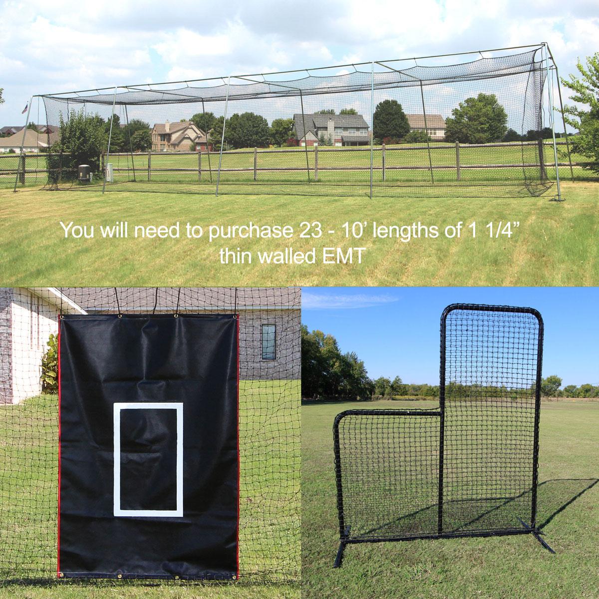 Packaging or Promotional image for 50' Hot Corner Baseball Bundle